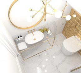 Projekt małej łazienki TARNÓW