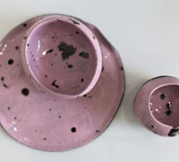 RÓŻOWY ZESTAW ceramiczny