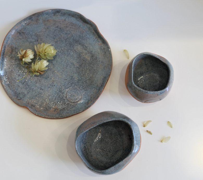 TURKUSOWY ZESTAW ceramiczny