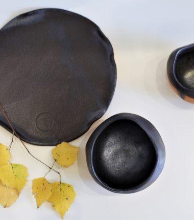 CZARNY ZESTAW ceramiczny