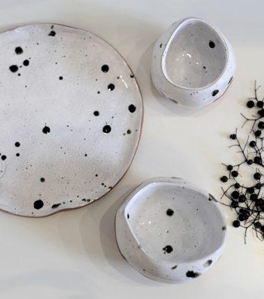 BIAŁY ZESTAW ceramiczny