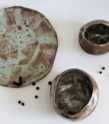 PISTACJOWY ZESTAW ceramiczny